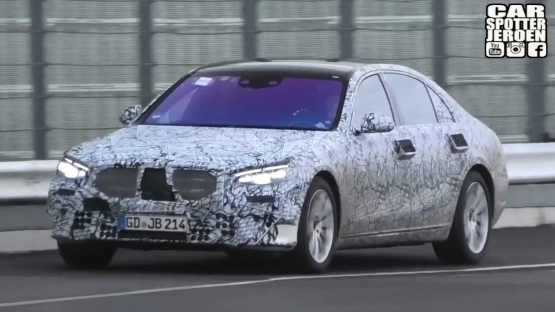 2021 Mercedes S Class Spied Testing Hard At The Nürburgring