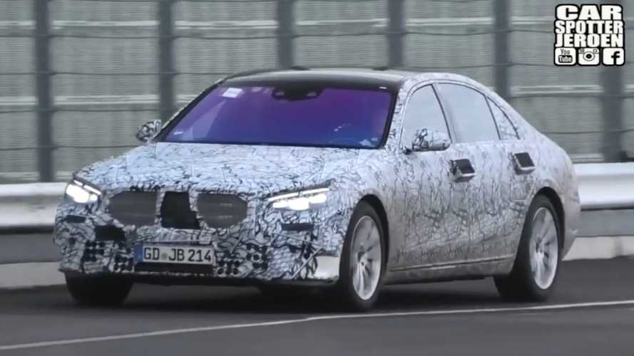 2021 Mercedes S-Class Spied Testing Hard At The Nürburgring