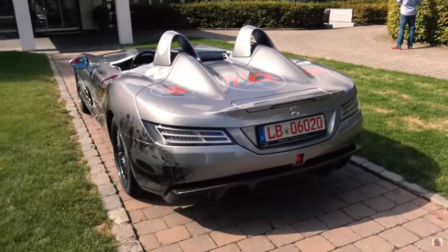Mercedes SLR McLaren Stirling Moss shows radical shape on video