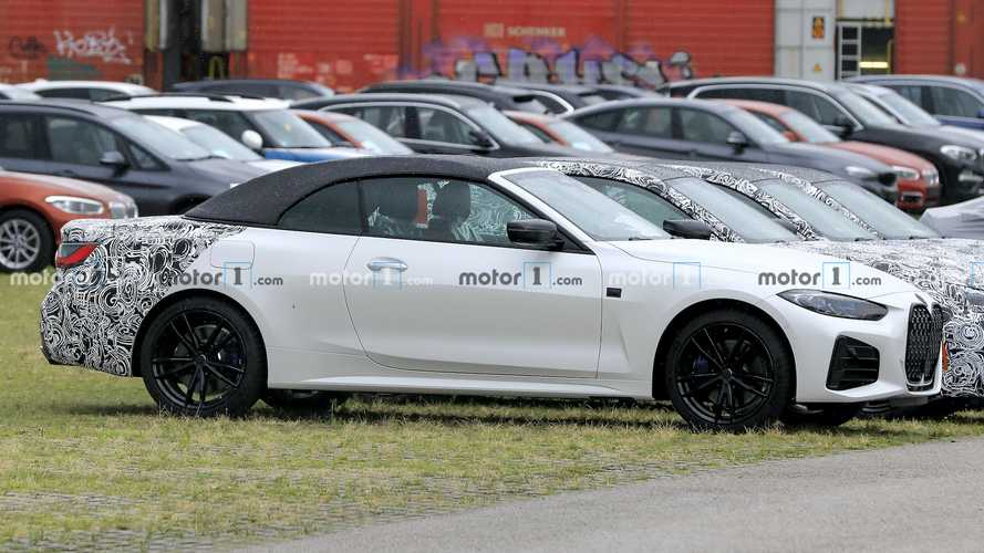 BMW 4 Series Convertible Spied Almost Completely Exposed