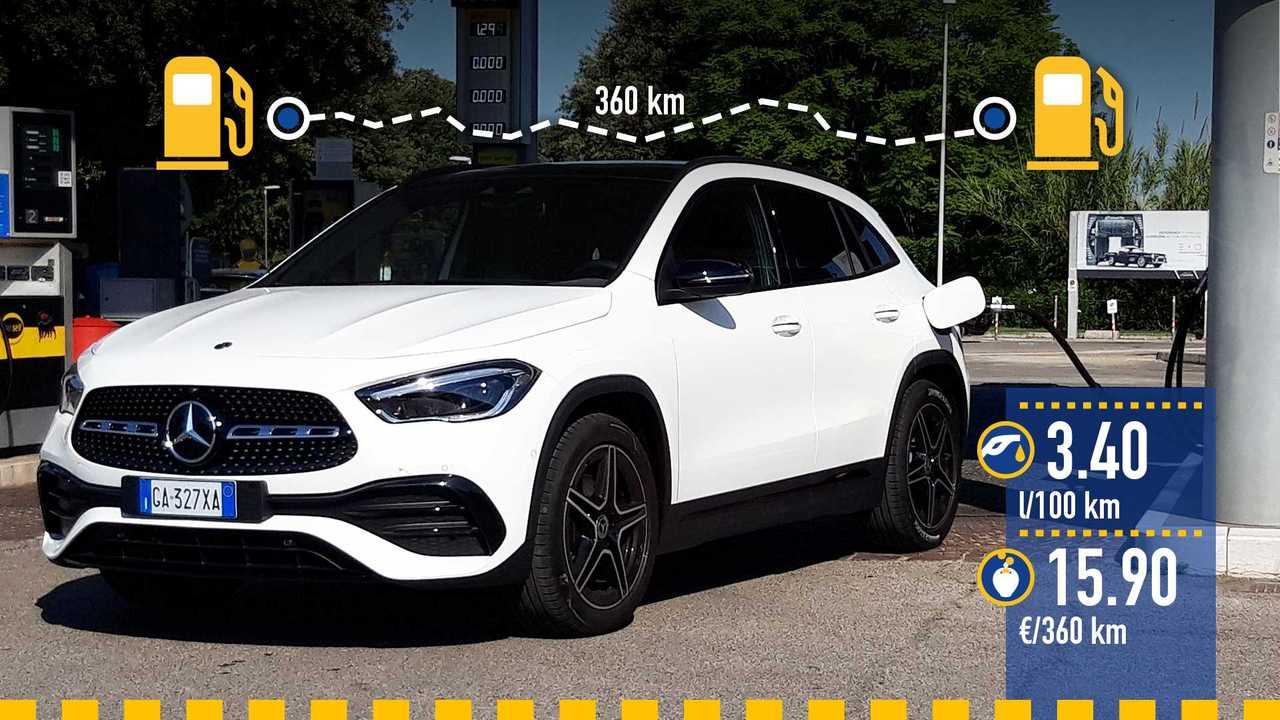 Mercedes GLA diesel 4Matic, la prova consumi