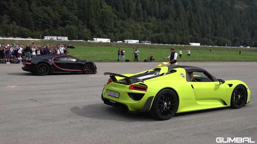 Porsche 918 Spyder Battles A Bugatti Chiron In Drag Race