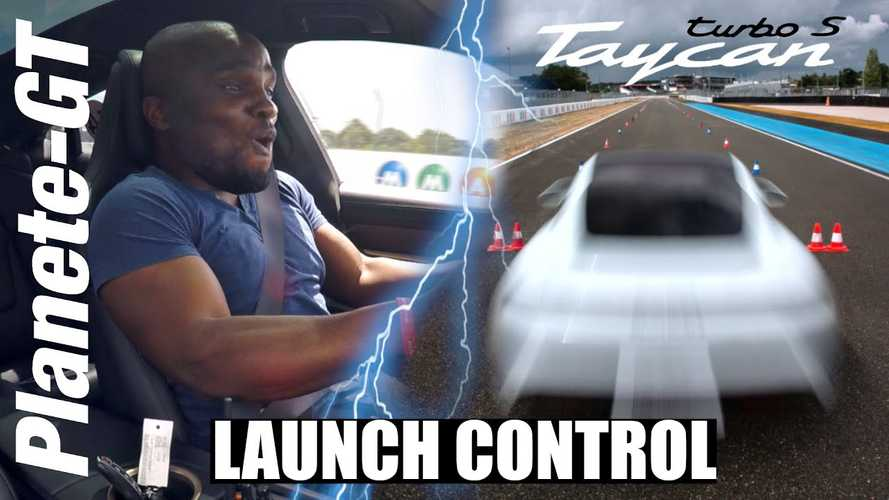 Porsche Taycan Turbo S Launch Control Reaction Is Absolutely Priceless