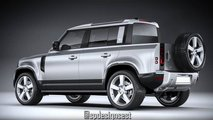 Land Rover Defender 110 Four-Door Truck Rendering