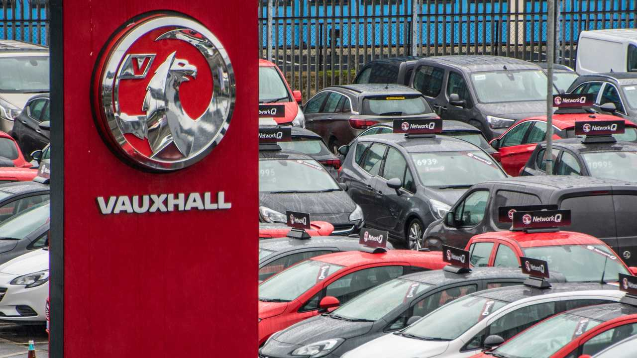Vauxhall dealership forecourt London