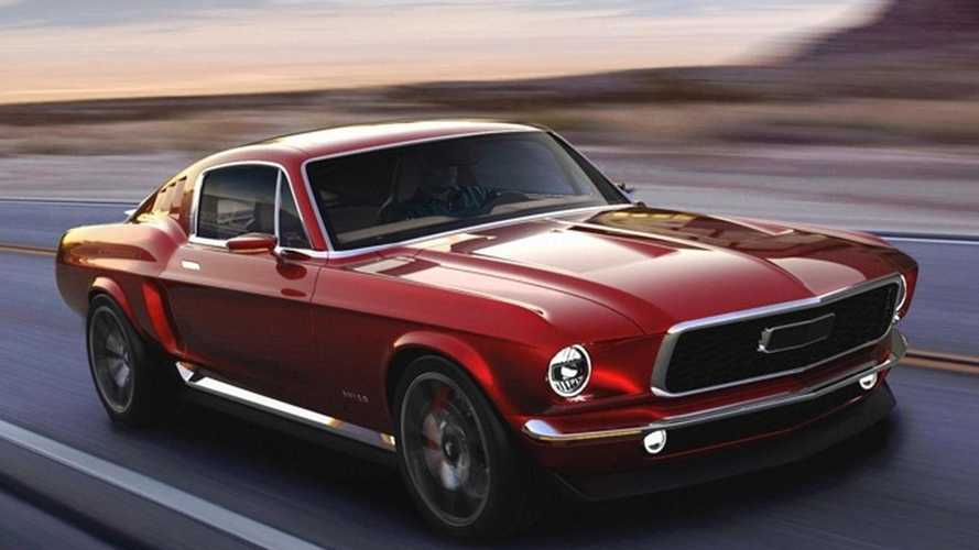 840bhp Russian electric Mustang Fastback imitation surfaces