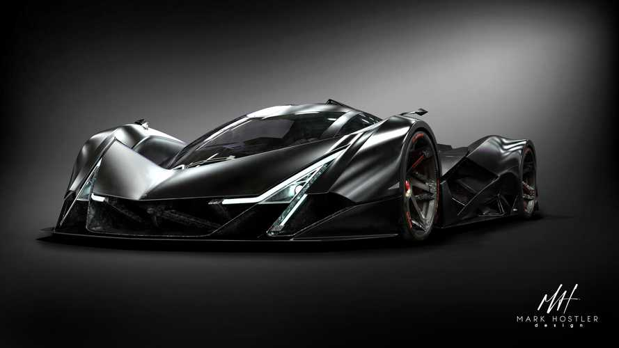 Wild Devel Sixteen hypercar imagined by Motor1.com reader