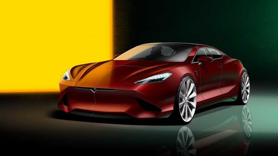 How's this for a next-gen Tesla Model S redesign?