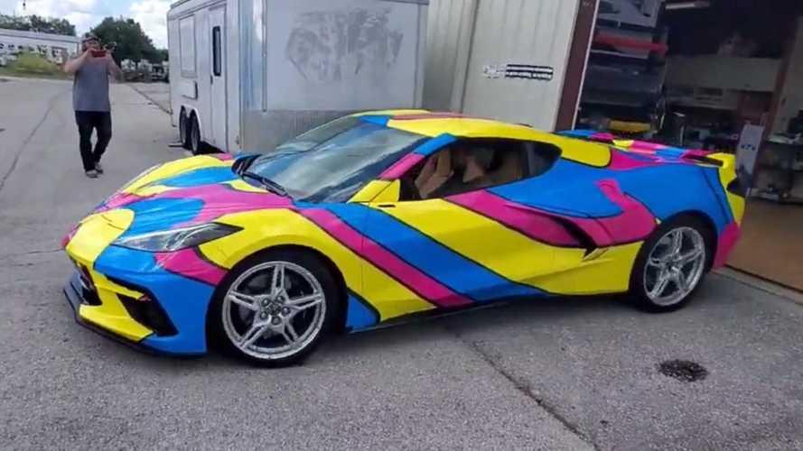 Here's The Craziest 2020 Corvette C8 Wrap We've Ever Seen