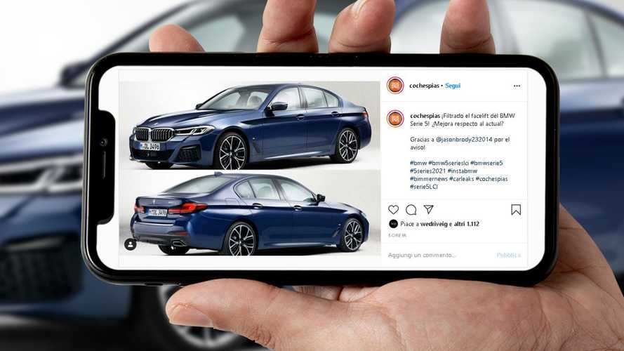 BMW Serie 5, sfuggono le foto del restyling