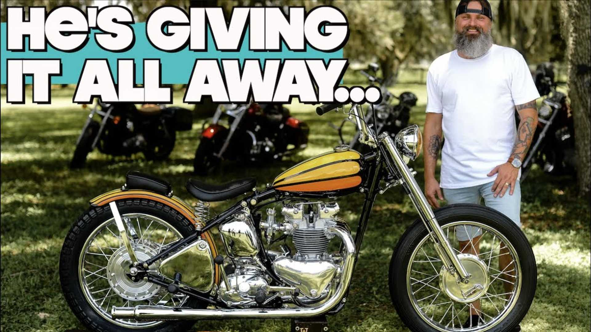 This David Mann Replica Triumph Is Being Raffled For Charity