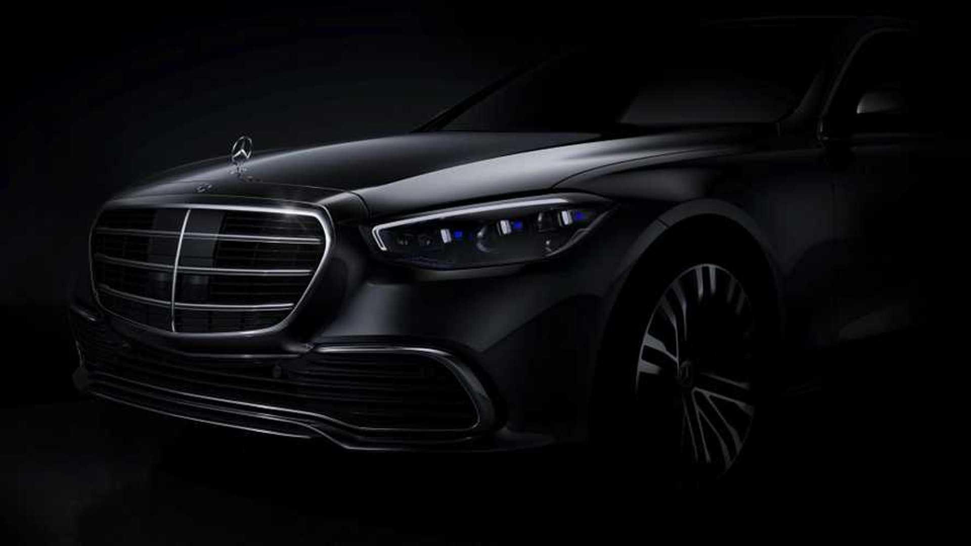 Mercedes S-Klasse W223 (2020): Front-Design in offiziellem Teaser enthüllt