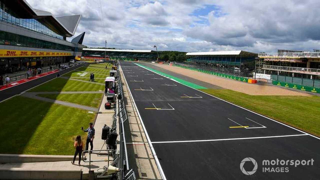 New Track surface on the start finish straight at British GP 2019
