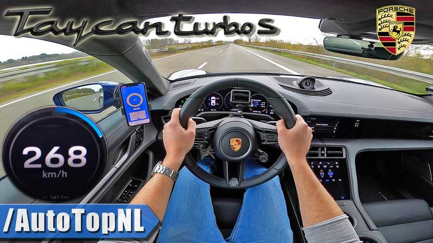 Porsche Taycan Turbo S Autobahn Top Speed Point-Of-View Video