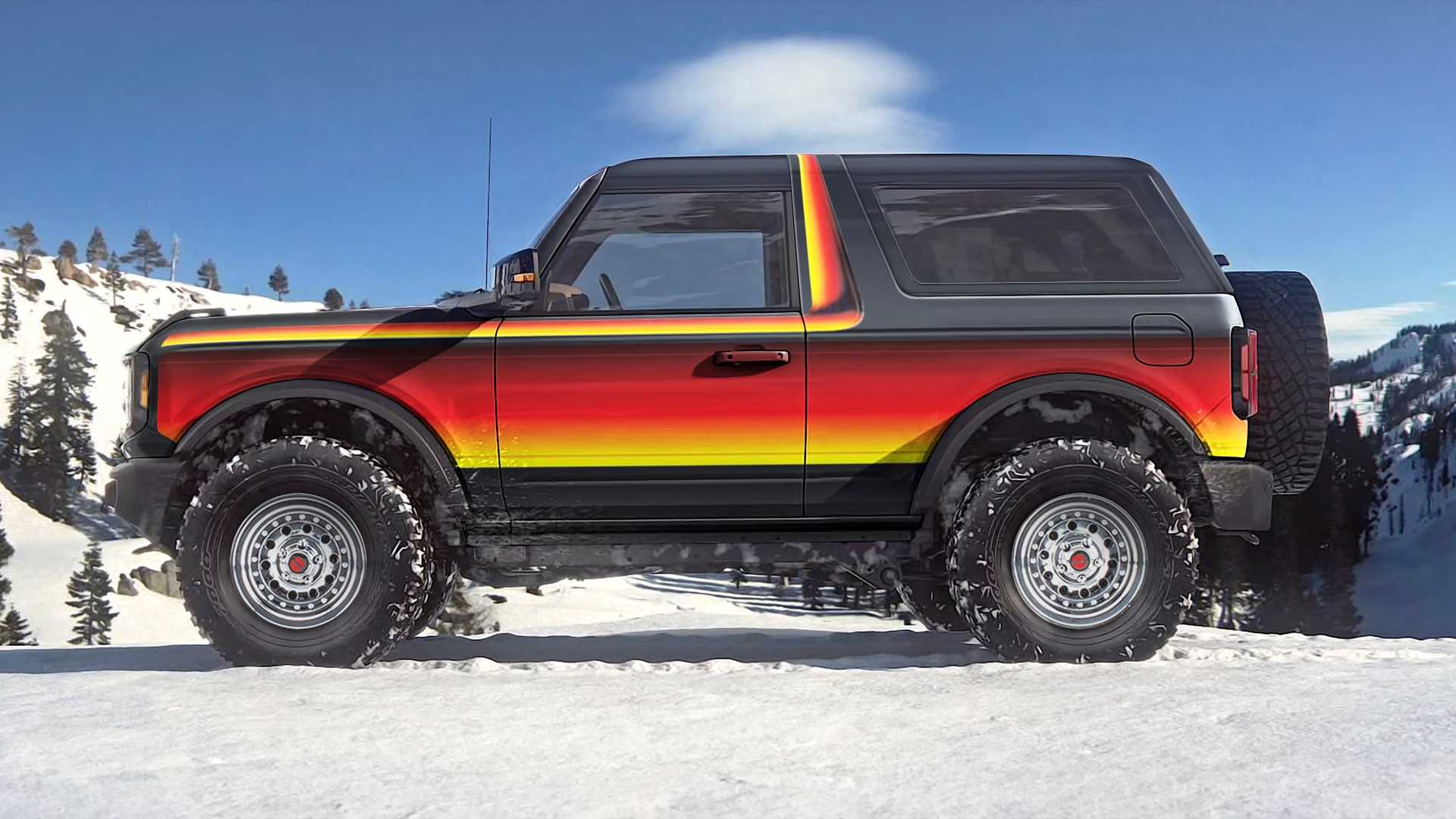 Retro Ford Bronco Renderings Give New Off-Roader Vintage Graphics