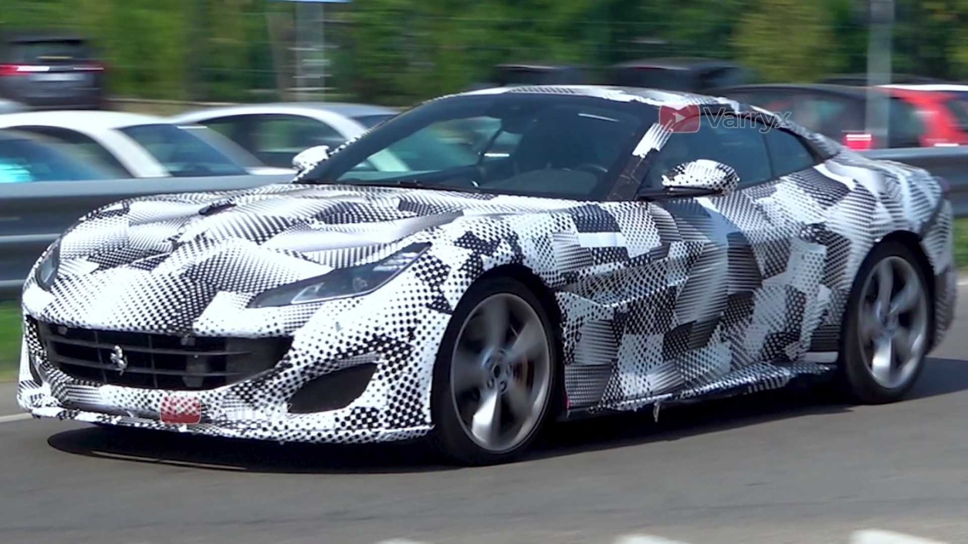 Mysterious Ferrari Portofino caught dipped in camouflage