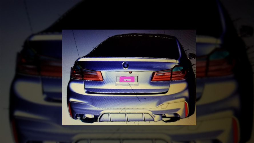 2018 BMW M5 CAD drawing (not confirmed)