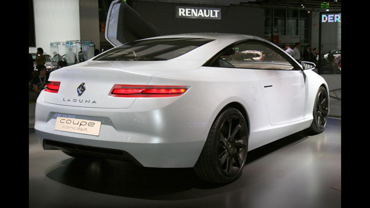 Beim schicken Renault Laguna Coupé Concept passt halt auch der Auspuff zum Auftritt
