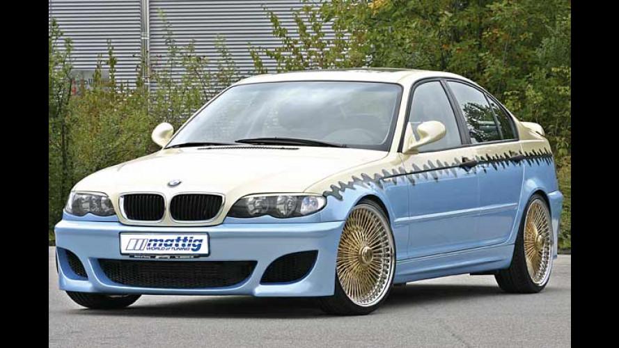 Surfin' BMW: Mattig-Dreier im Tikki-Style macht Urlaubslaune