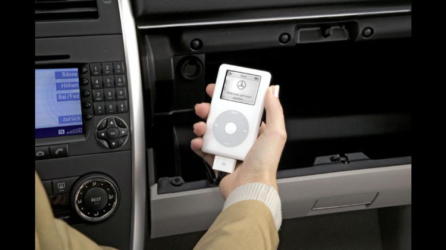 Apples iPod zieht in die Fahrzeuge von Mercedes-Benz ein