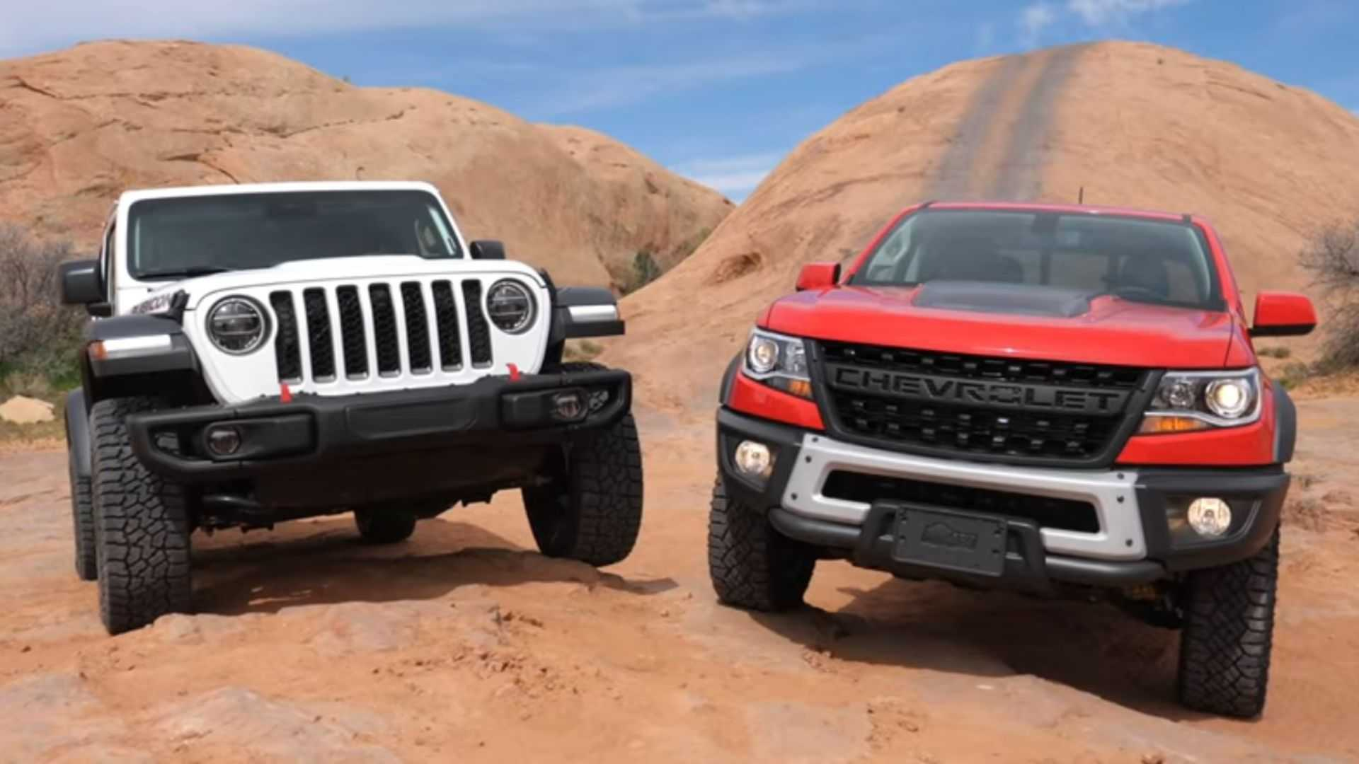 Jeep Gladiator And Chevy Colorado Zr2 Bison Off Road Comparo