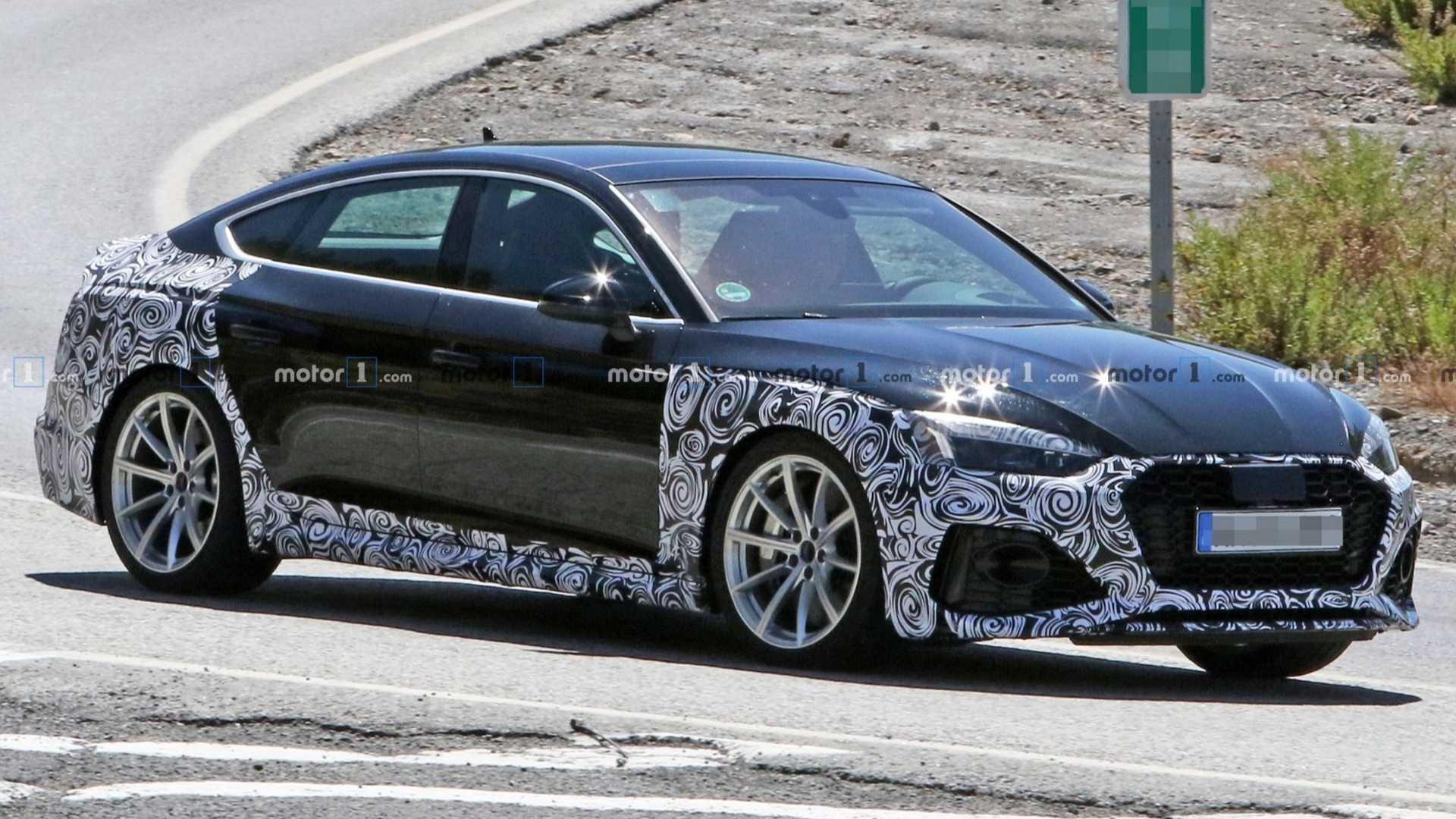Audi Rs5 Sportback Facelift Makes Spy Photo Debut