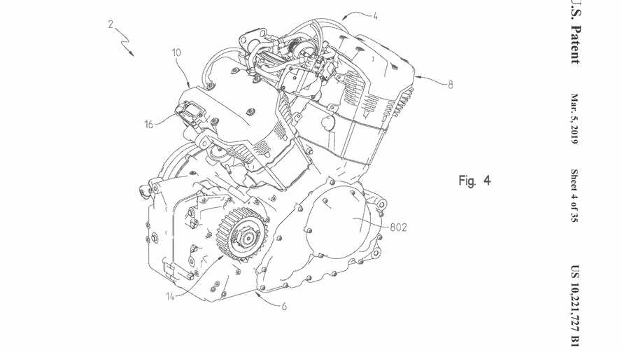 Water-Cooled Indian Engine Patent Images