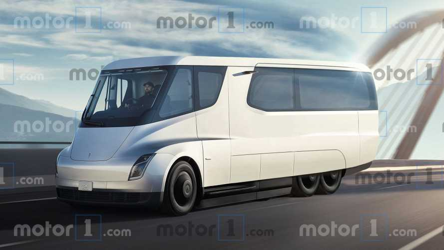 Tesla Semi render imagines amazing electric motorhome