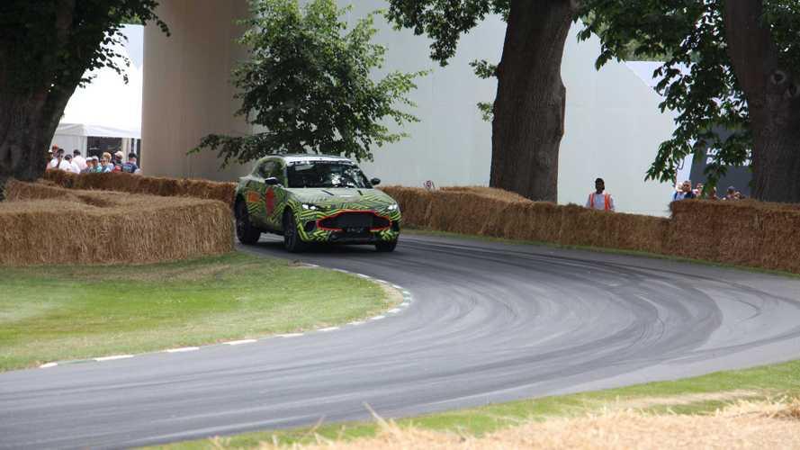 Прототип Aston Martin DBX на Фестивале скорости в Гудвуде
