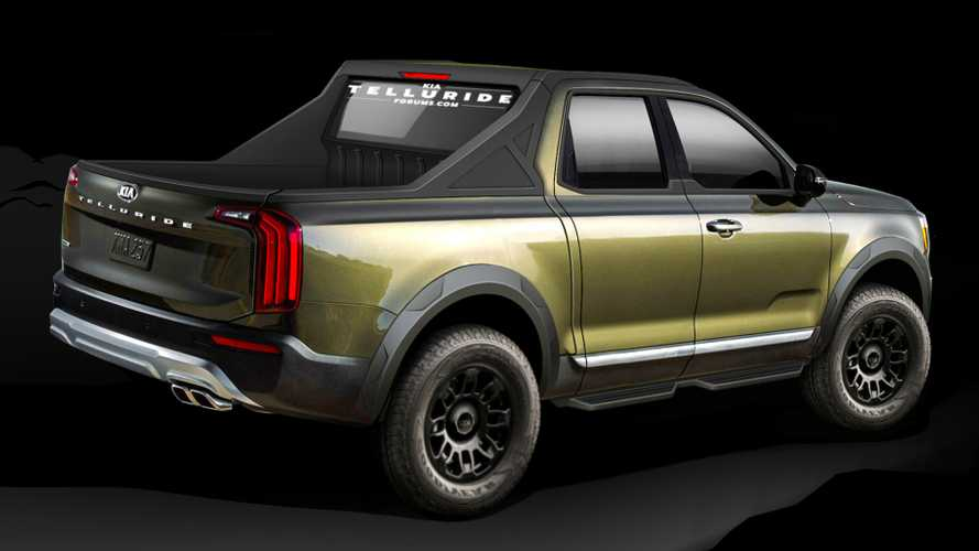 Kia Telluride-based truck renderings