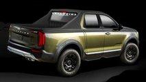 Kia Telluride-based truck renderings