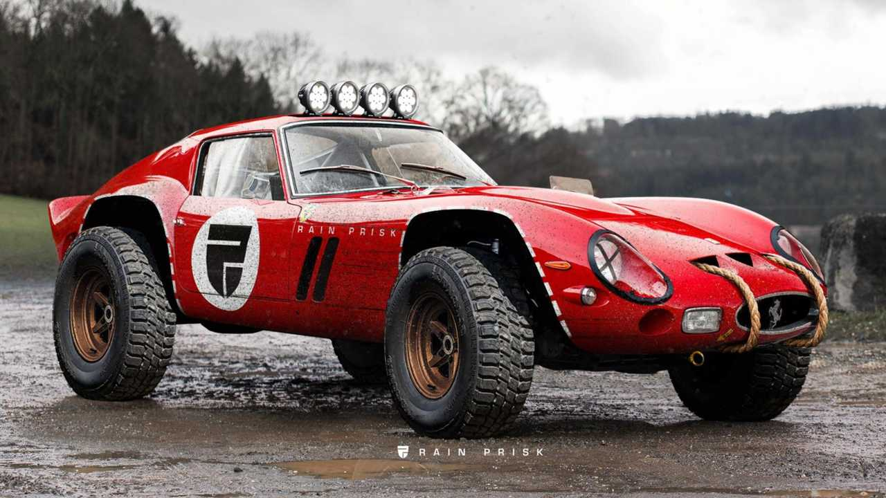 Ferrari 250 GTO off-road rendering