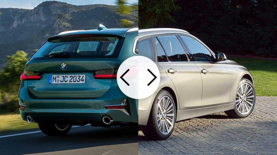 BMW Serie 3 Touring, nuova e vecchia a confronto