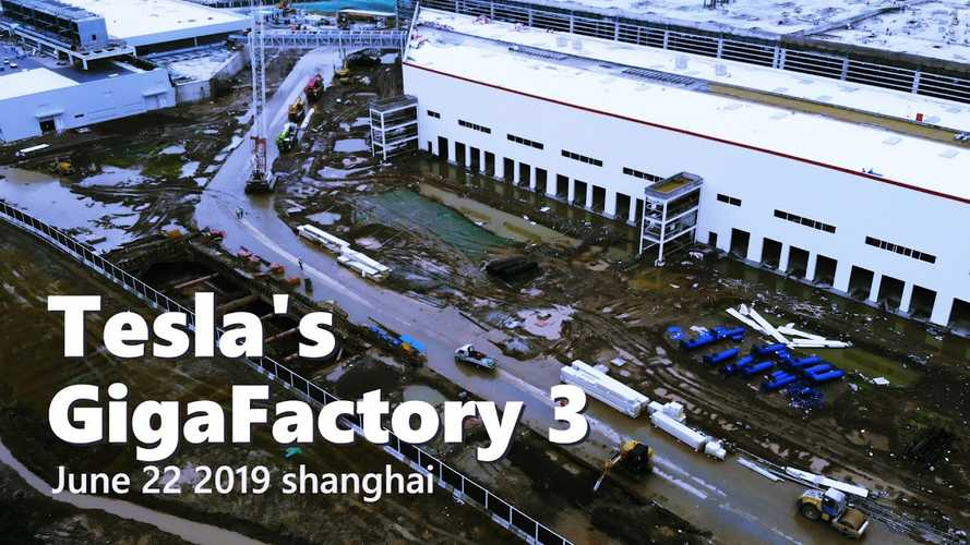Tesla Gigafactory 3 Construction Progress June 22, 2019: Video