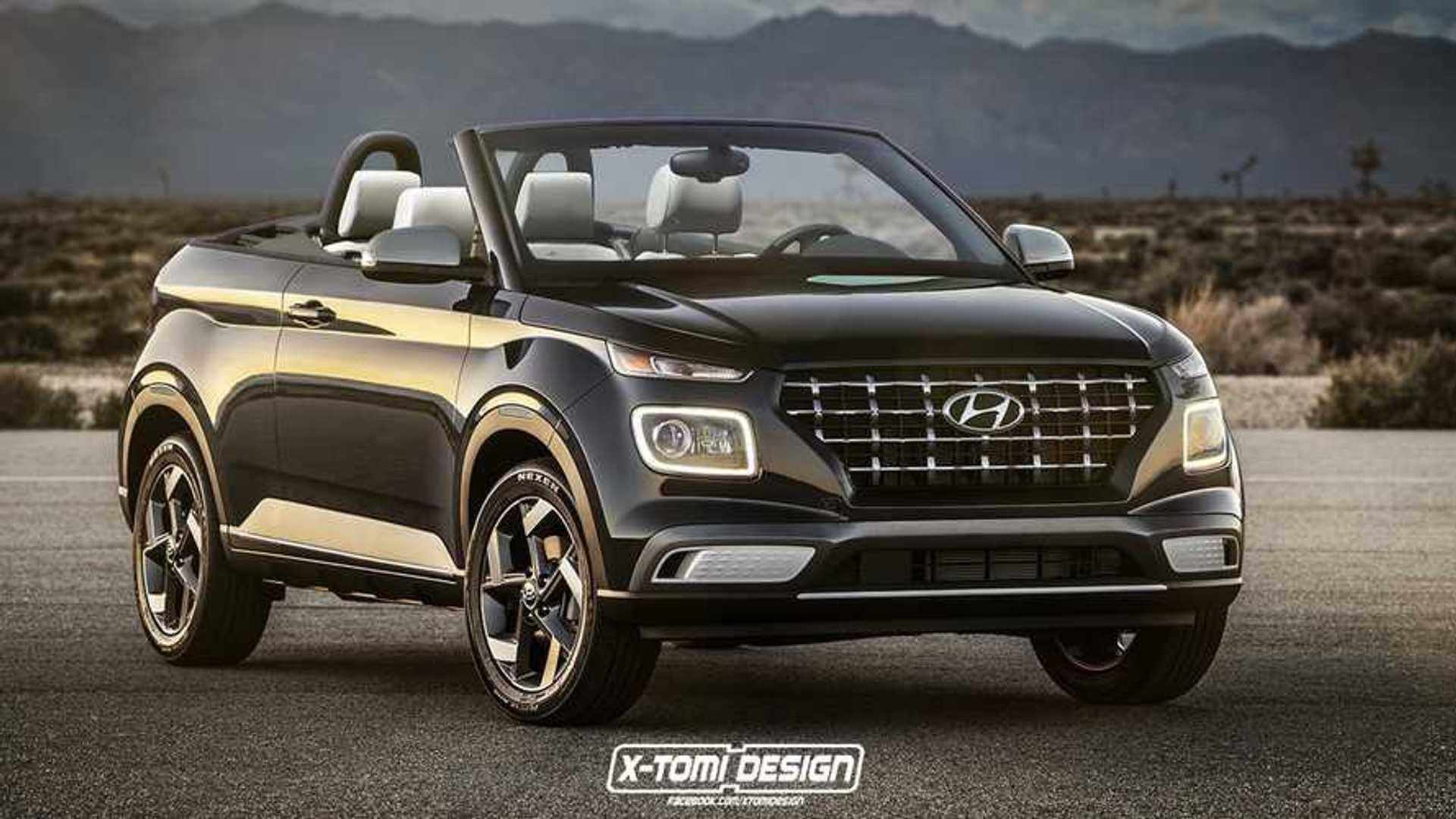 Hopefully Venue Cabrio Render Won T Give Hyundai Any Ideas