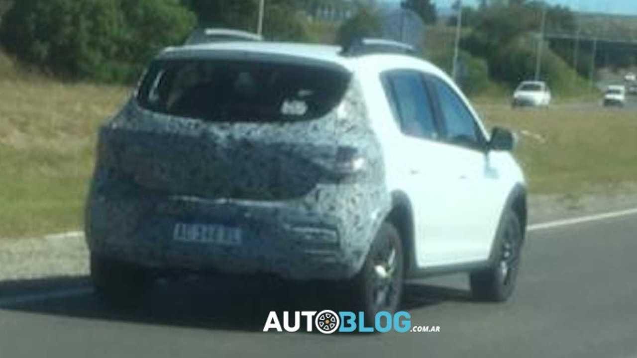 Renault Sandero 2020 - Flagra na Argentina