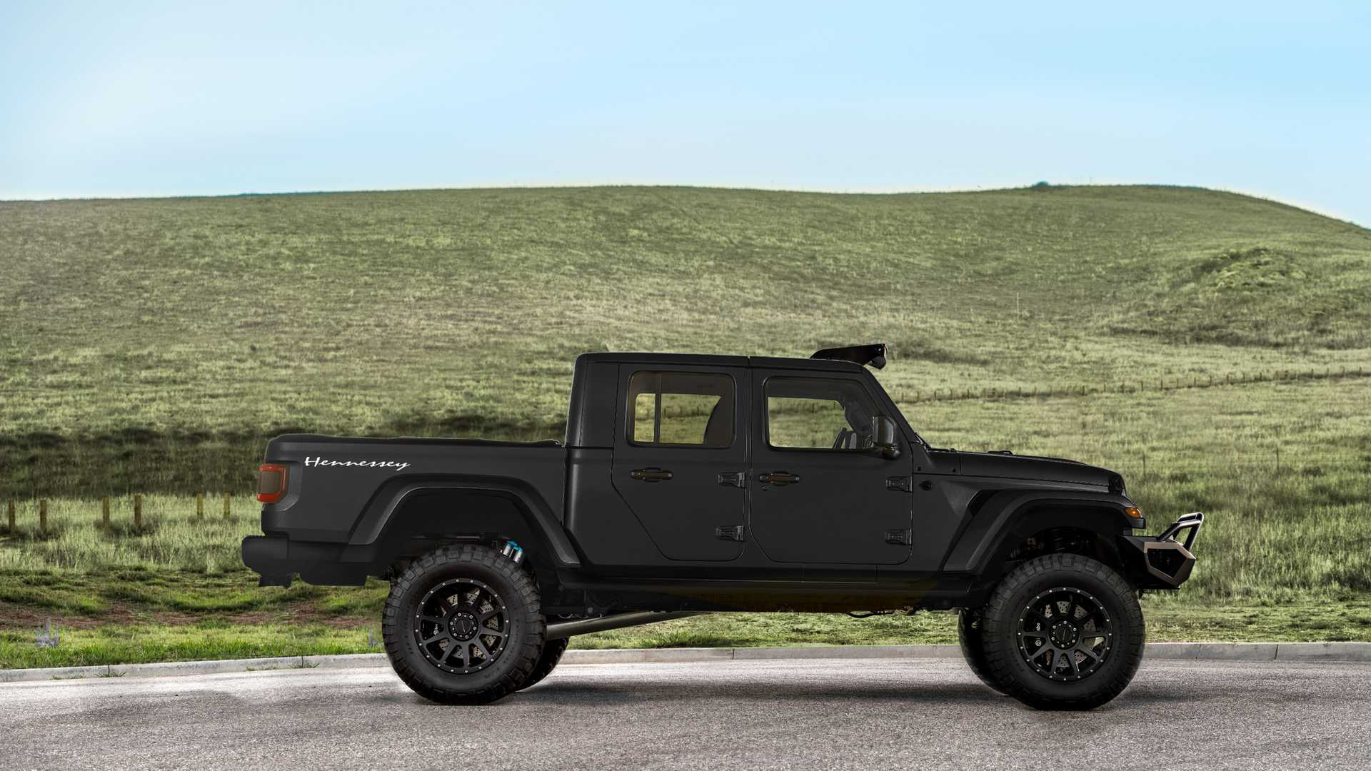 Jeep Gladiator Gets 1,000-HP cat Makeover From Hennessey on
