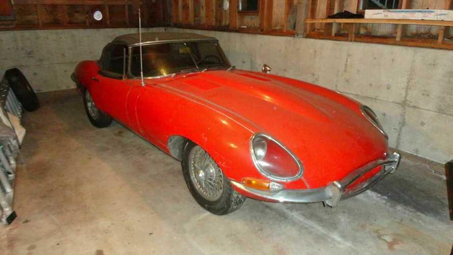 Cette Jaguar Type E 'flat floor' sortie de grange est à rénover