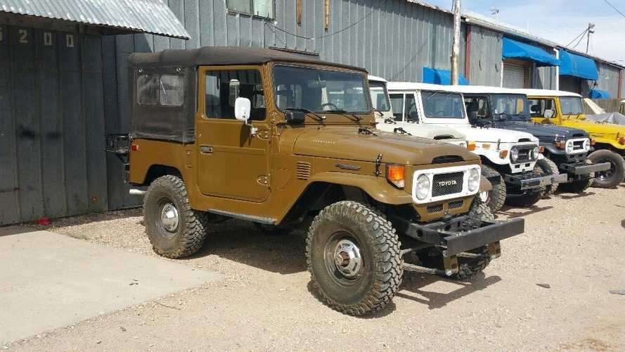 Take A Cruise In This Olive Green 1977 Toyota FJ40