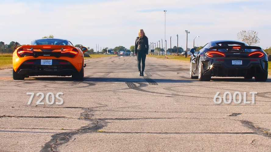 Hennessey drag races its own McLaren 600LT against 720S