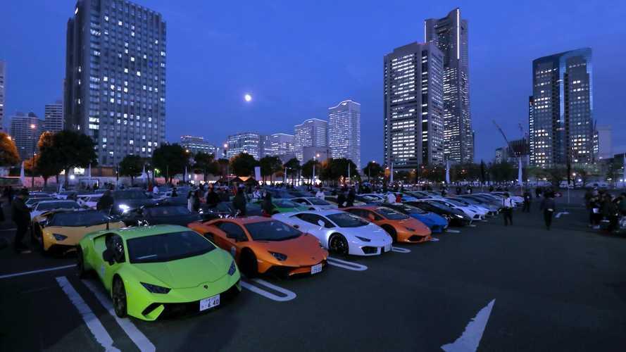 Lamborghini celebró, en Japón, el estreno del Aventador SVJ