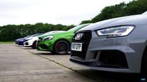 Five mega hatches on a drag race
