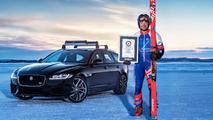 Graham Bell Jaguar XF Sportbrake ski record