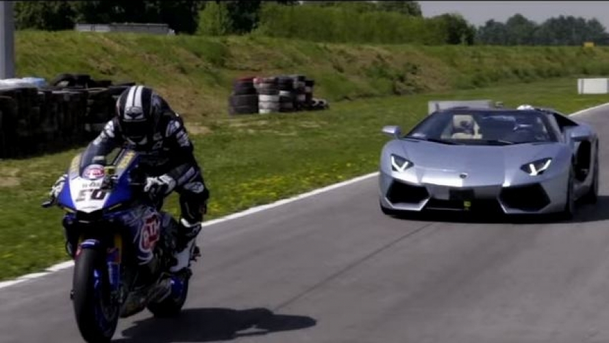 Yamaha R1 SBK Vs Lamborghini Aventador [VIDEO]