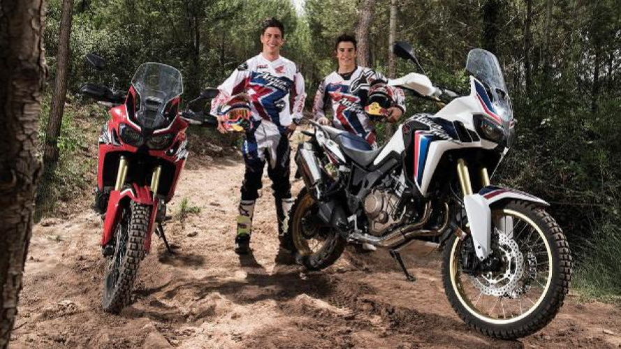 Honda CRF 1000 L Africa Twin nelle mani di Marquez e Barreda [VIDEO]