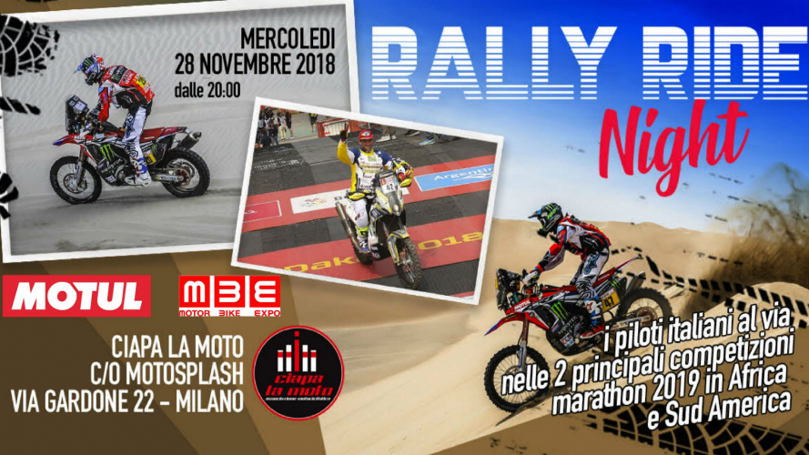 Rally Ride Night 2019: Ciapa la Moto dedica una serata all'off-road