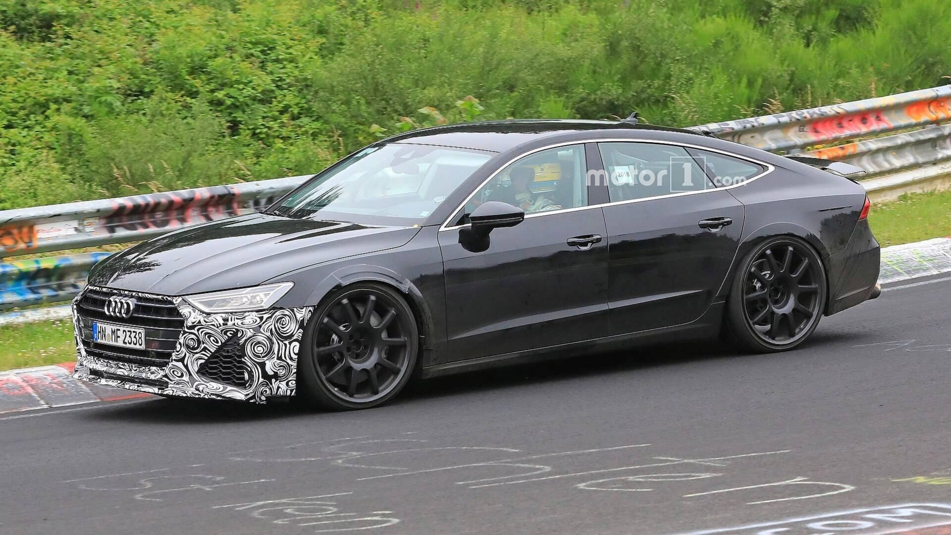New Audi RS Sportback Spied Looking Fierce At The Nurburgring - Rs7 audi