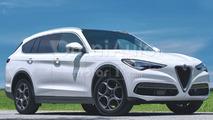 Alfa Romeo, il rendering del SUV grande