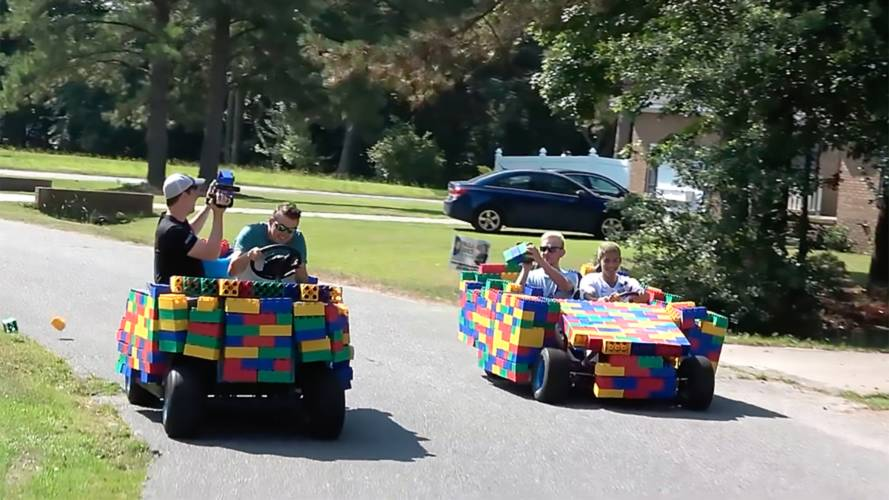 Watch Lego Cars Cruise Around Town Before Being Caught By Police