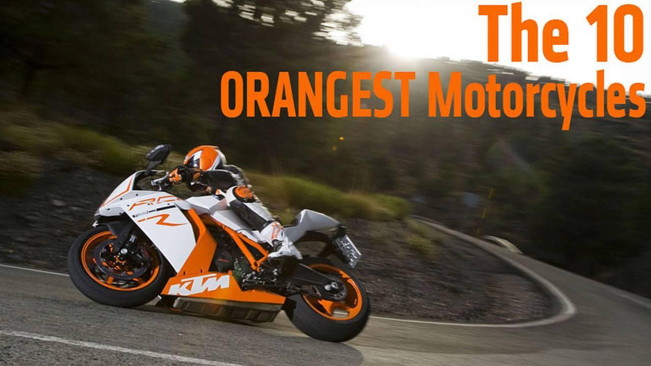 The 10 Orangest Motorcycles